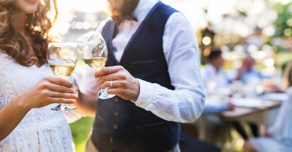 Backyard wedding in New Jersey